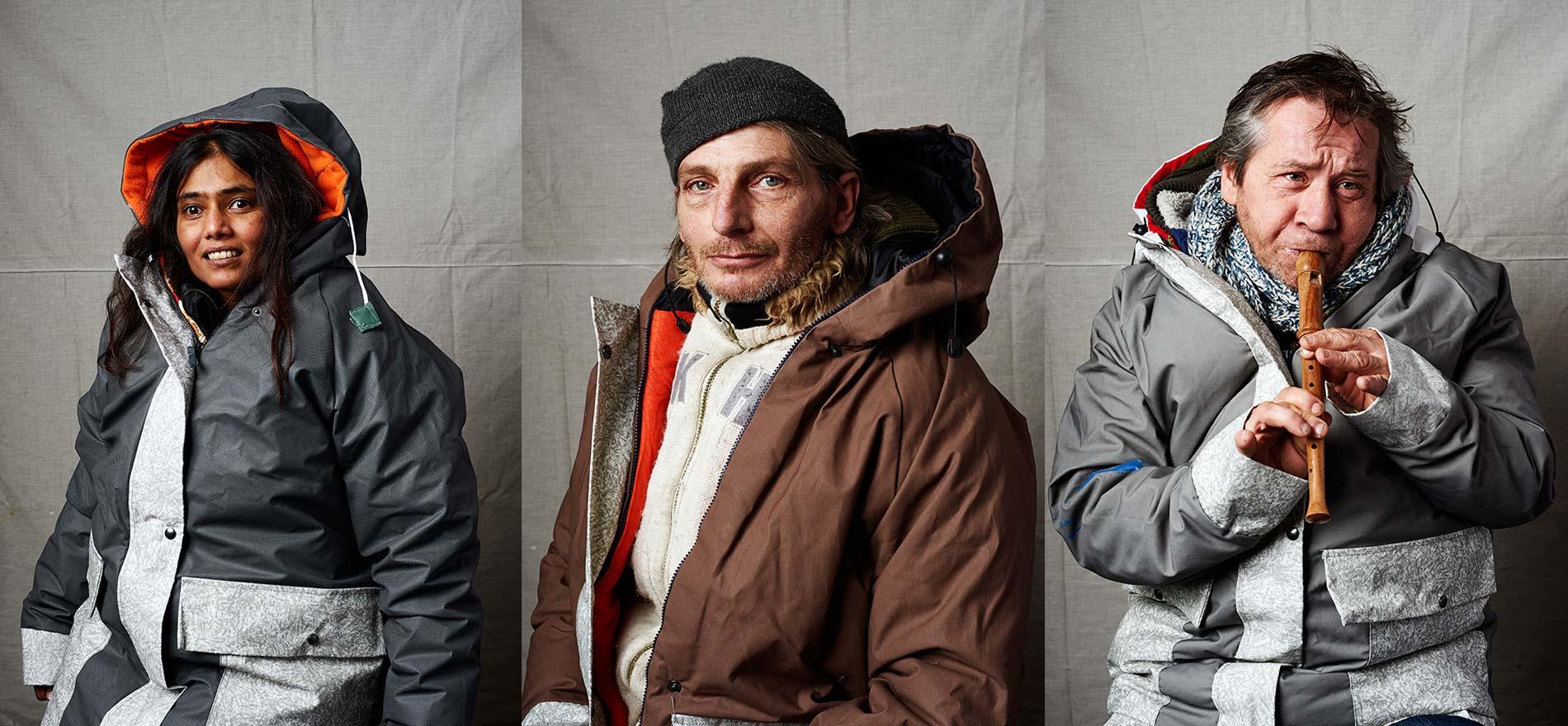 De mensen in de sheltersuit